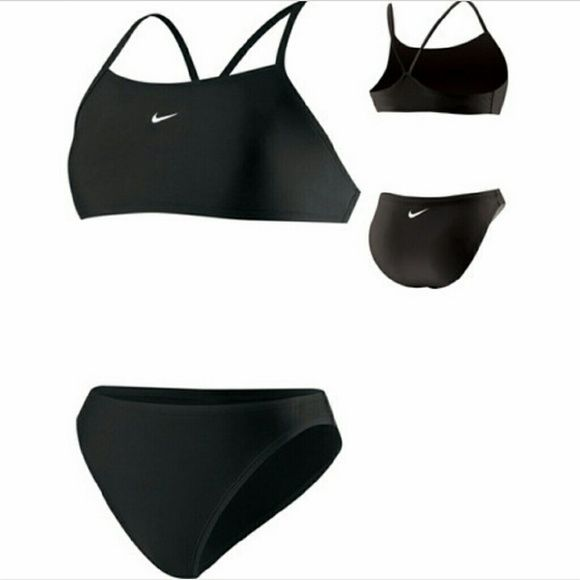 Nike Piece Swim Swimsuit Nylon 2 Black tsQdhrC