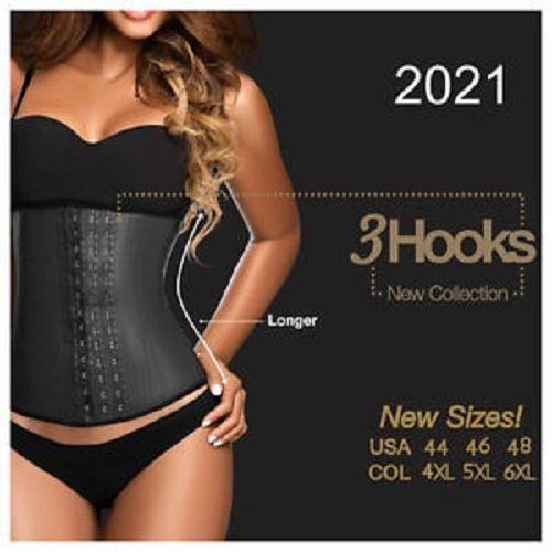 d323d52c26990 Ann Chery 2021 3 Hook Latex Waist Cincher - Just added plus sizes to 6XL  available.  waistcincher  corset  full figure shapewear