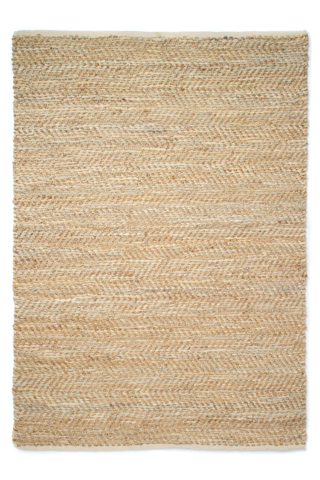Jute And Leather Rug Rugs French Connection