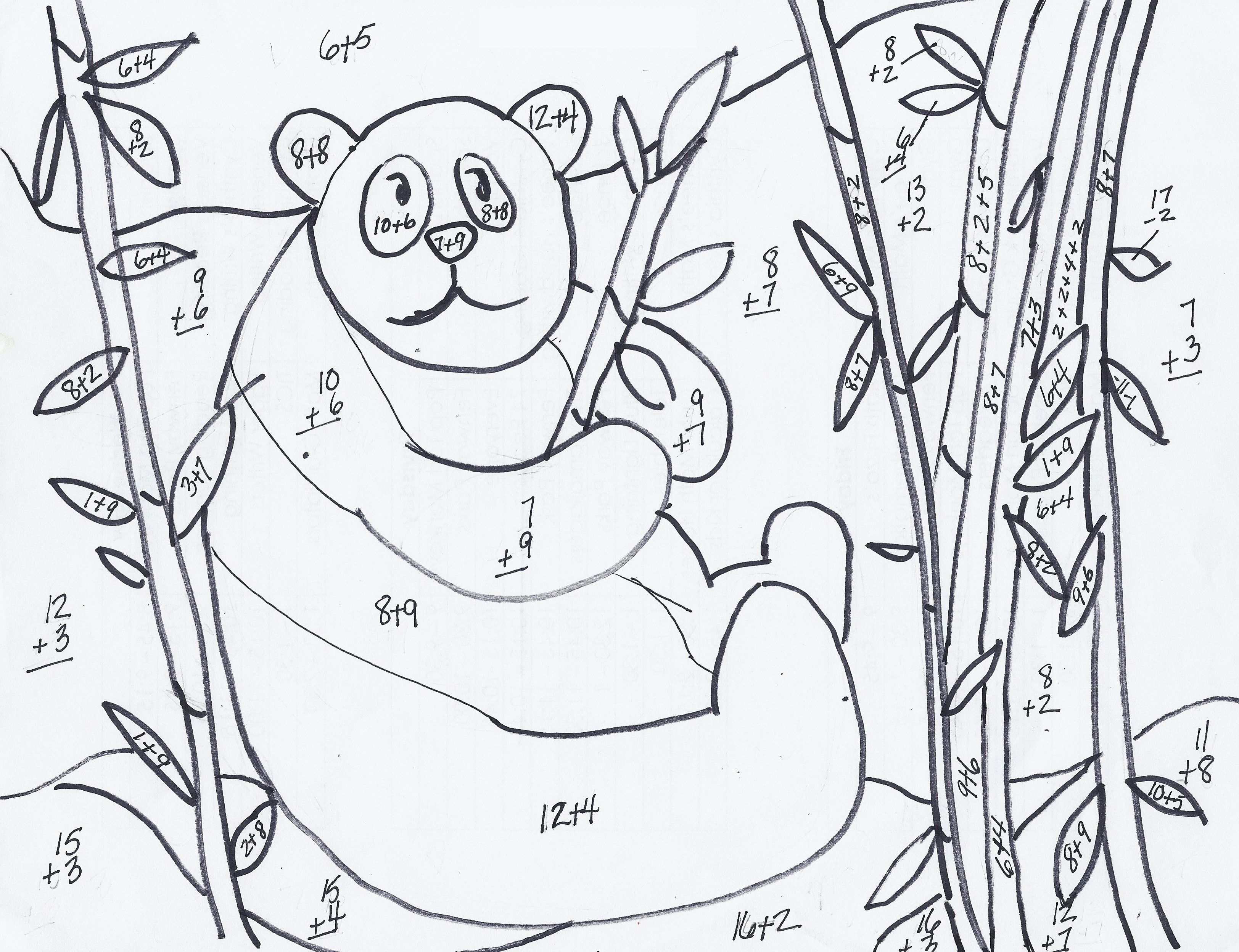 Addition Coloring Worksheets For 2nd Grade Here You Can