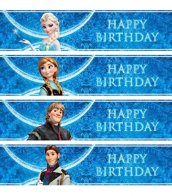 Free Printable Frozen Labels Disney Frozen Birthday Party Frozen Themed Birthday Party Frozen Theme Party