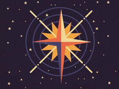 North Star North Star Star Illustration Star Art