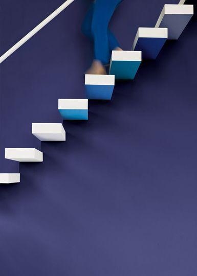 Peinture bleu, les couleurs tendance  lapis lazuli, turquoise - peinture blanche pour mur