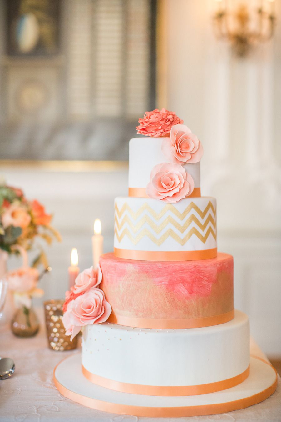 Peach Gold Luxury Wedding Inspiration Dad Debra Get Married