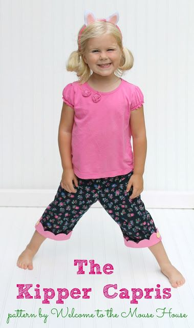 The Kipper Capris: Free Pattern and Tutorial Size 4 | Kinder ...