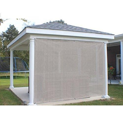 Alion Home Sun Shade Privacy Panel With Grommets And Hems On 4 Sides For Patio Awning Window Pergola Or Gazebo Smo Patio Shade Pergola Patio Pergola Shade