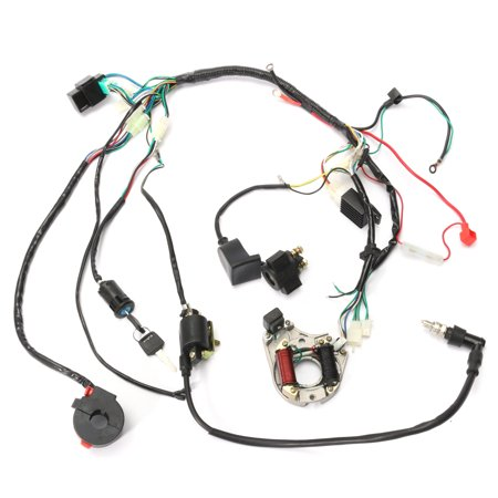 1 Set Wire Harness Wiring Cdi Assembly For 50 70 90 110cc 125cc Motorcycle Accessories Atv Quad Coolster Go Kart Walmart Com Atv Quads Go Kart Motorcycle Accessories