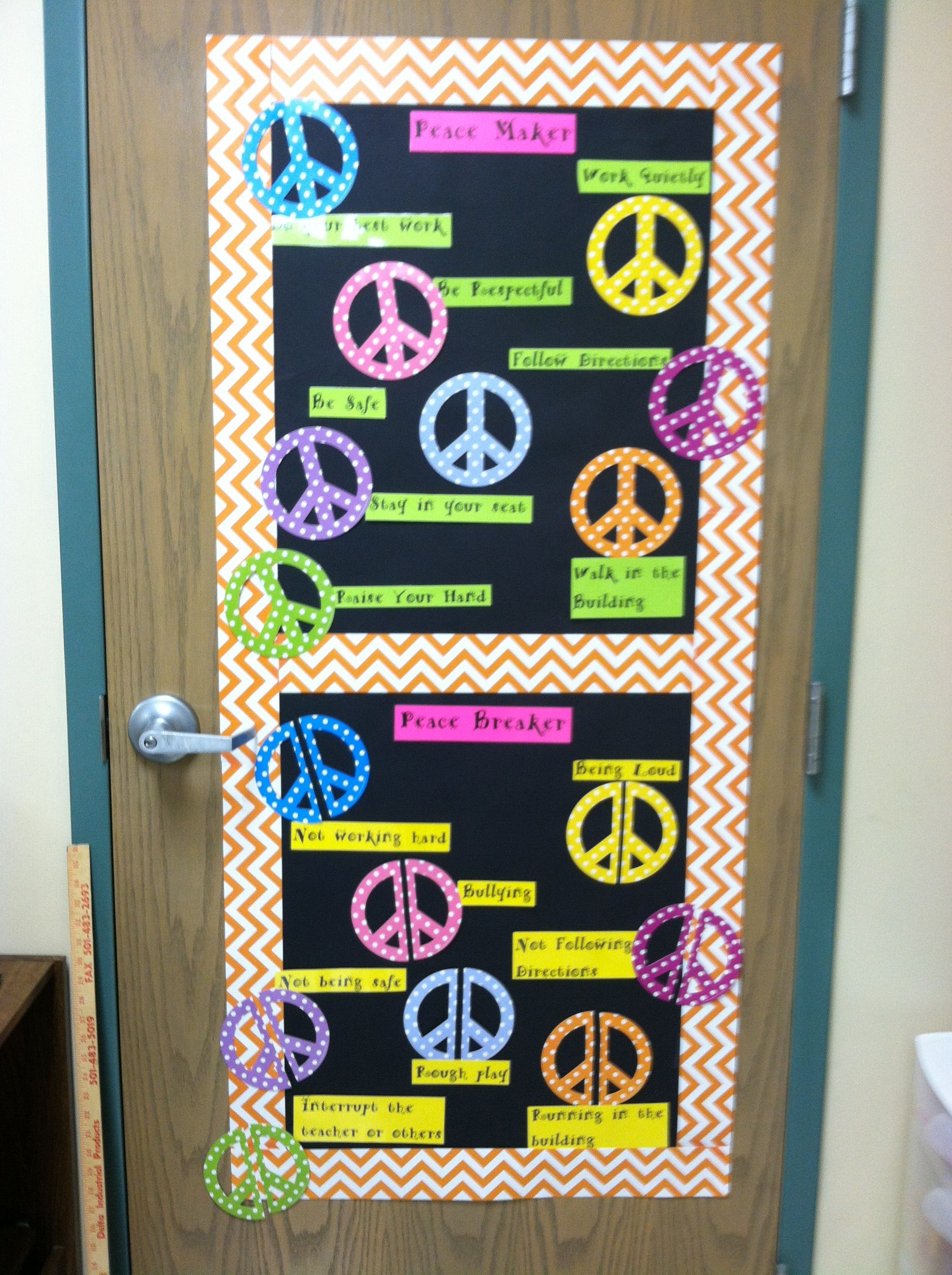 Peace Love And Learning Theme ...rules/expectations