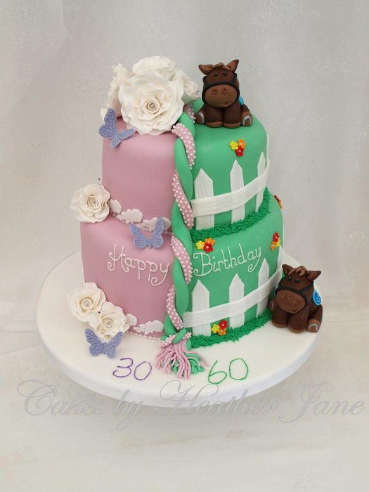 father and daughter joint birthday cake sweets so sweet