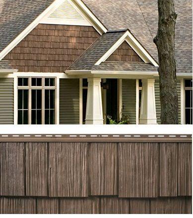 Dark Brown Cedar Vinyl Siding For The Home Pinterest Vinyl Siding House Cedar Vinyl Siding Exterior House Colors