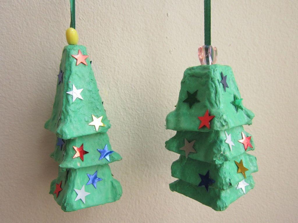 egg carton crafts christmas