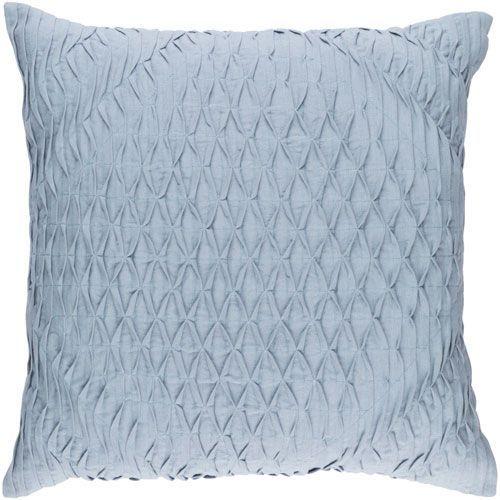Surya Baker Blue 40Inch Pillow Cover Pillows Throw Pillows And Simple 22 Inch Pillow Covers