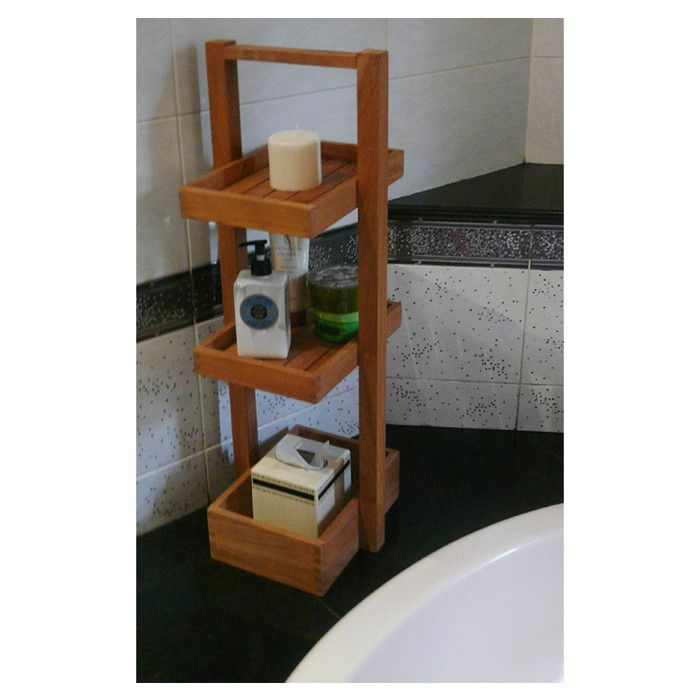 Marshall Teakwood Shower Caddy Storage Spaces Beautiful Bathrooms Teak Bath