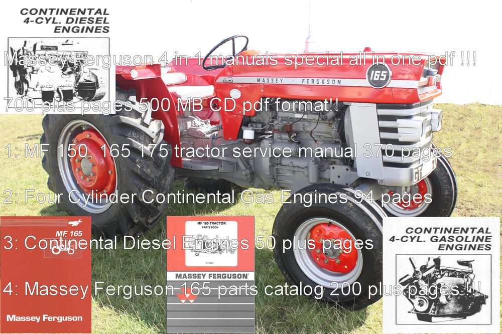 details about massey ferguson 165 service manual workshop repair details about massey ferguson 165 service manual workshop repair guide manual 4 in 1 pdf cd