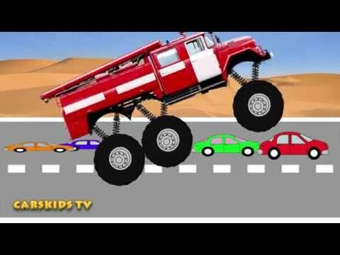 Monster Fire Truck Mega Crushing Sartoons Toy For Kids Monster Truck Videos For Kids Truck Videos For Kids Monster Truck Videos Fire Trucks