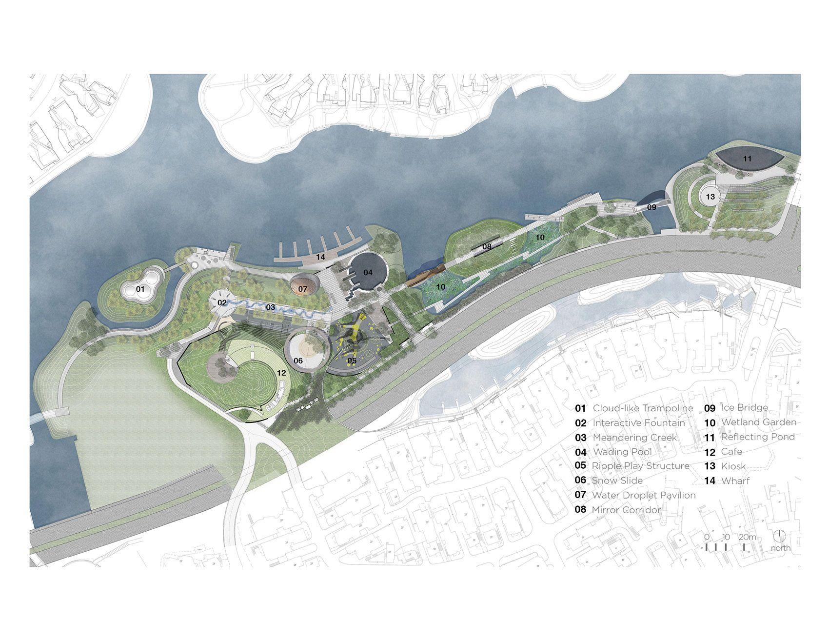 Cloud Paradise Park China By Z T Studio Fun And Educational Water Theme Park Water Theme Park Diagram Architecture Theme Park