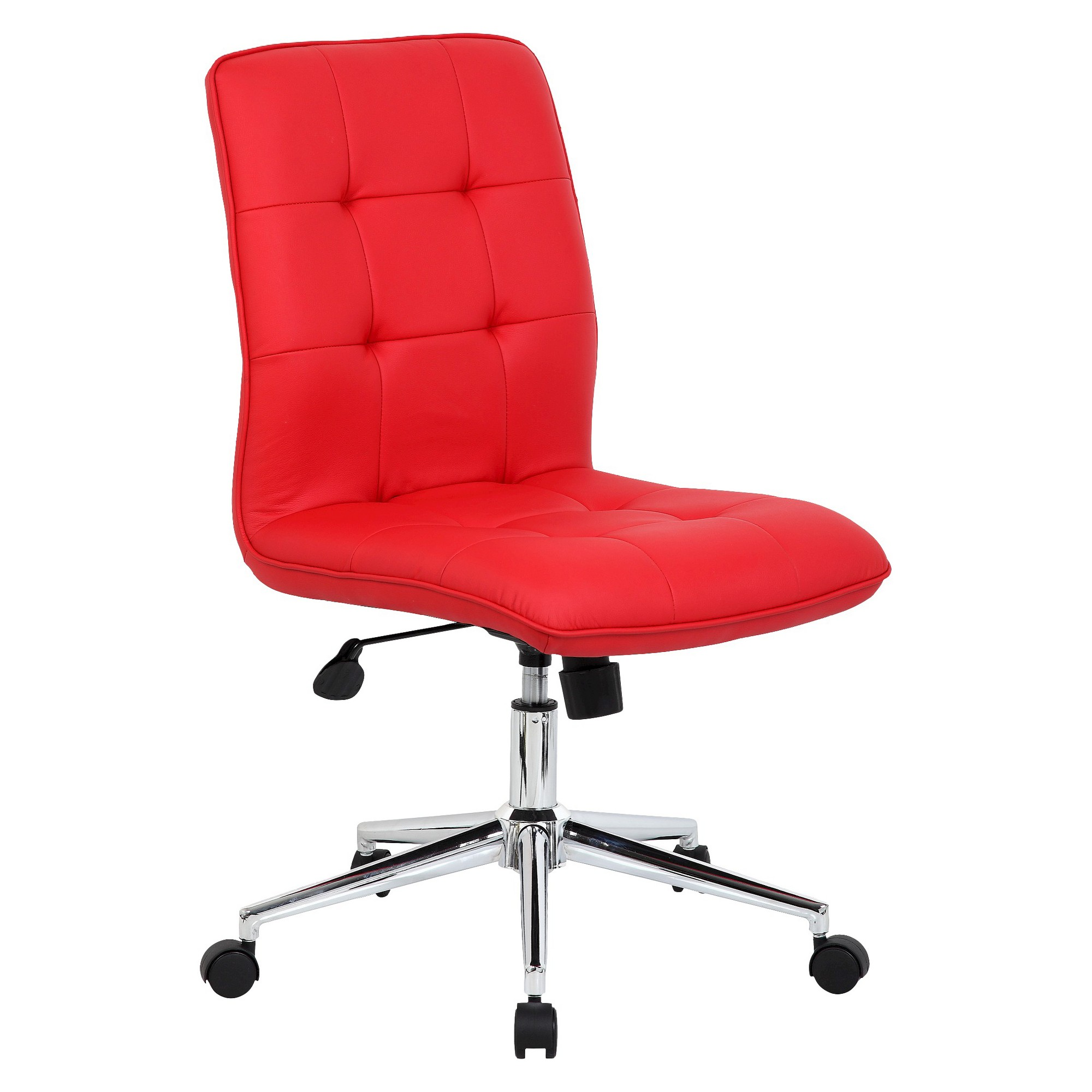 Modern Task Chair Red, Adult Unisex Adjustable office