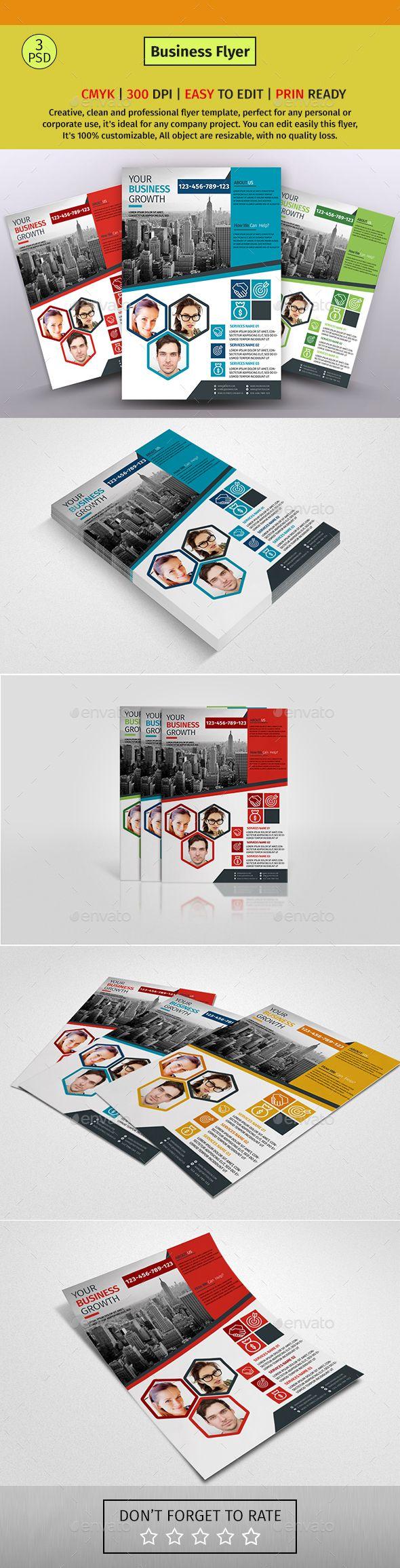 a4 corporate business flyer 65 flyer pinterest