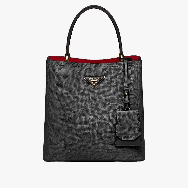 ded65b8c6e7c PRADA - OFFICIAL WEBSITE. Saffiano leather Double leather handle ...