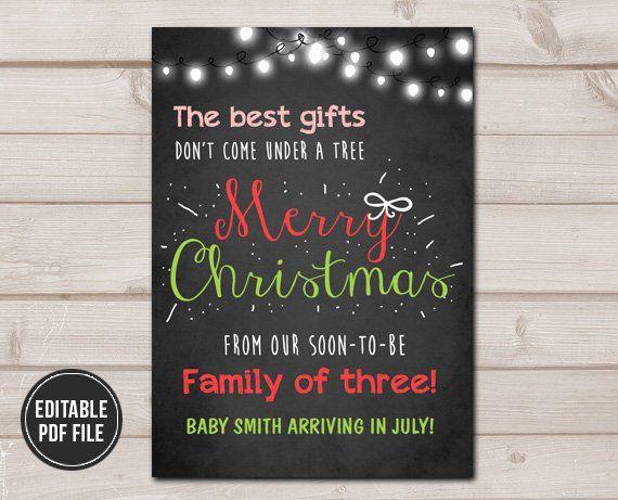 Christmas Pregnancy Announcement Merry Christmas Pregnancy Reveal