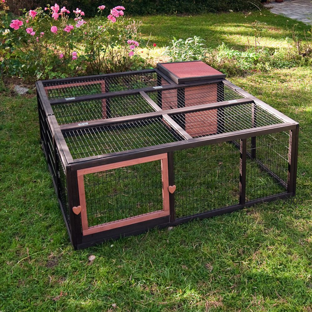 animalerie enclos outback grande avec maisonnette pour rongeur et lapin enclos maisonnette l. Black Bedroom Furniture Sets. Home Design Ideas