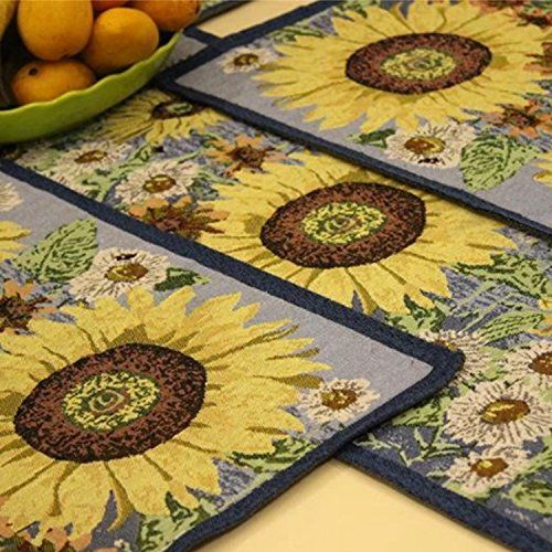 Queenie®   Set Of 1 Tapestry Table Runner And 4 Placemats (Sunflower)  Queenie