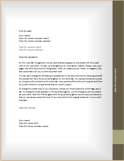 Download Business Letter Format attemplatesword – Address Change Letter Template