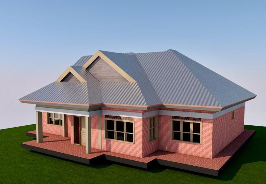 3 Bedroom Simple House Plan Muthurwa Com Simple House Plans House Roof Design Simple House