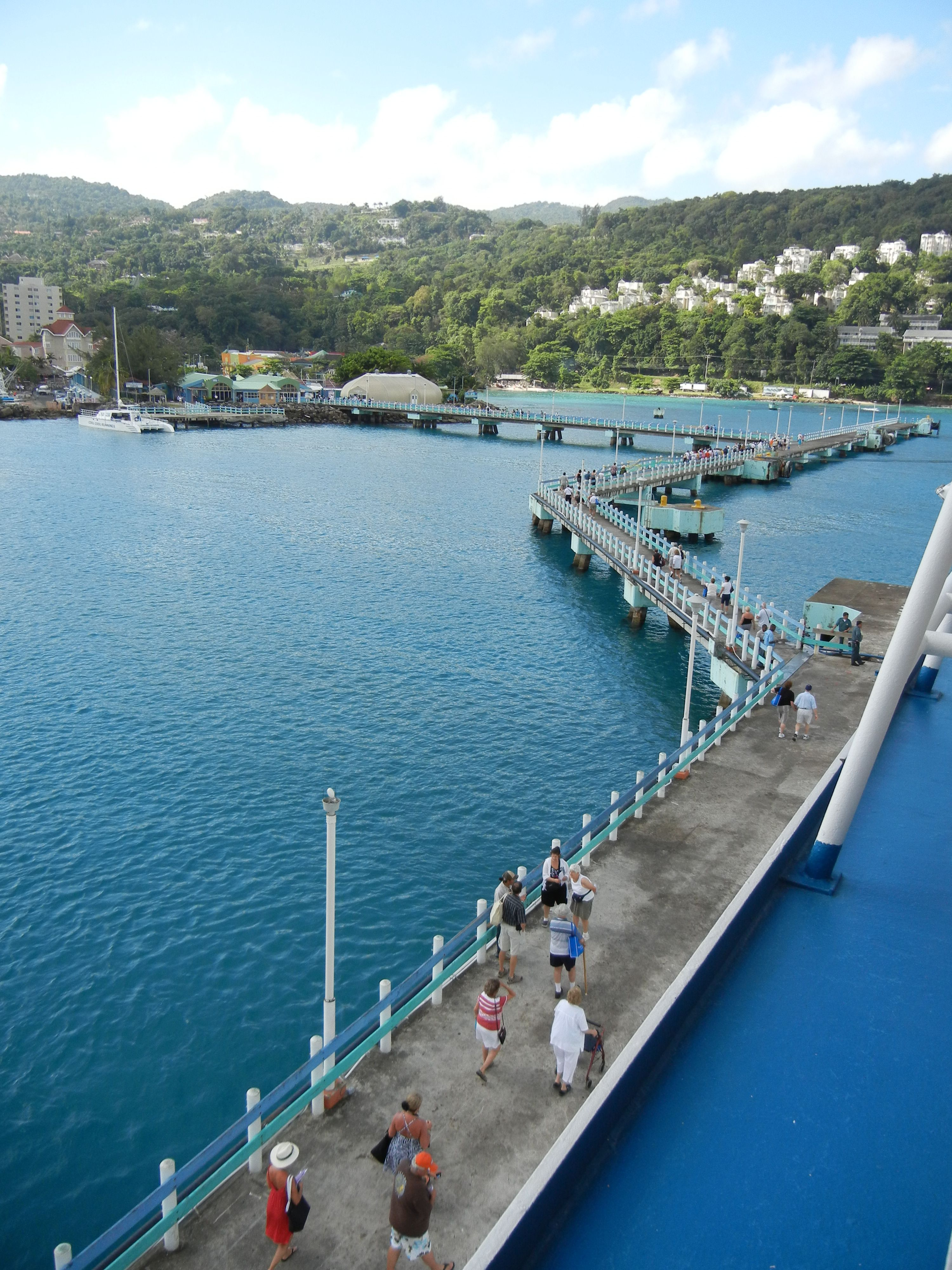 Ocho Rios Jamaica  I walked down this in a wedding dress and Andrew in his tux...LONG hot walk haha!