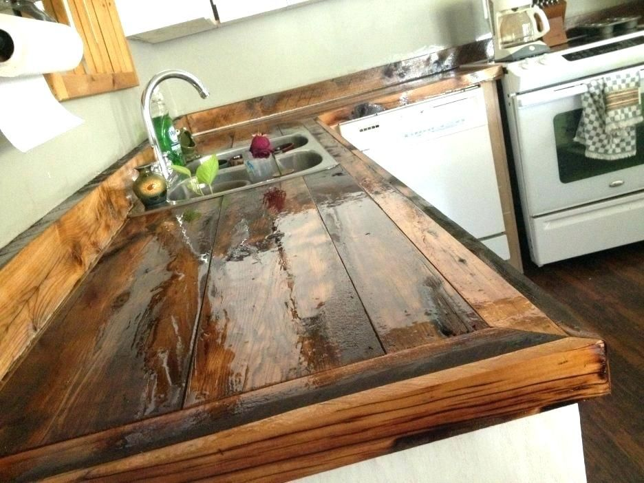 how to build a wood countertop how to make wood waterproof