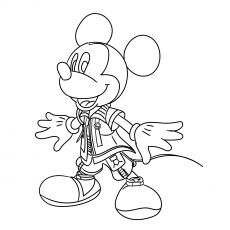 mickey kingdom of hearts  mickey mouse coloring pages disney coloring pages coloring pages