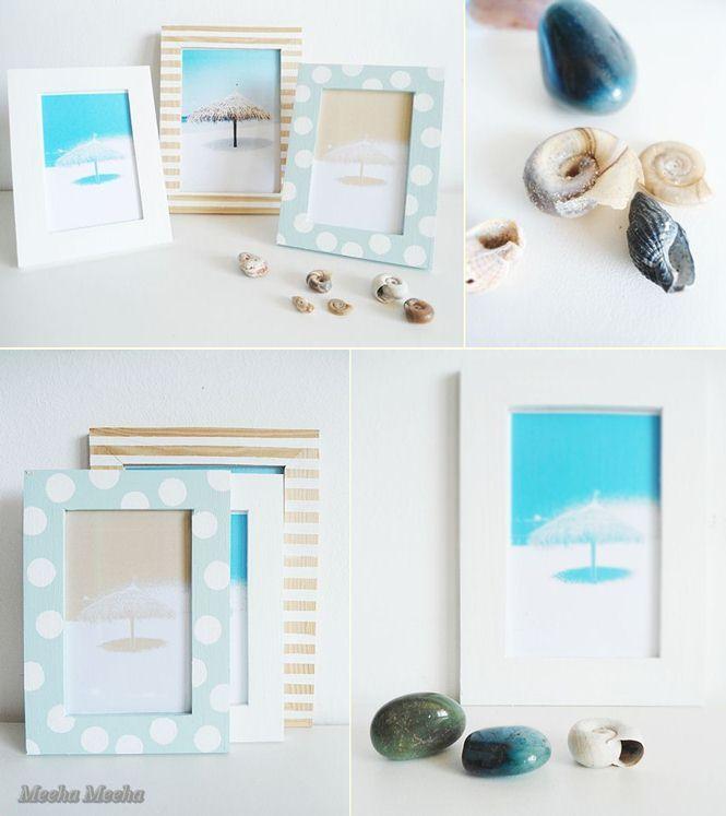 Meeha Meeha: Beachy Photo Frames | Beach Frames | Pinterest