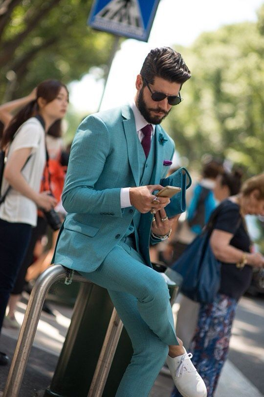 Water green cotton suit for summer wearing | Suits | Pinterest ...