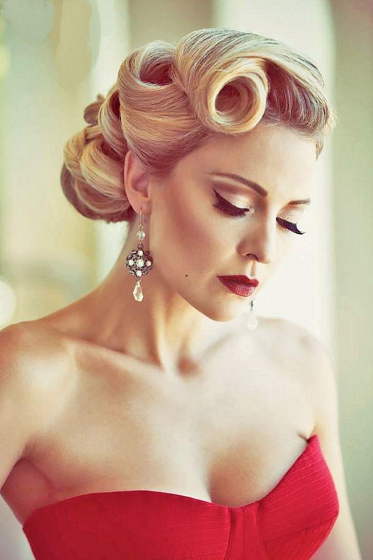 Unique vintage bridesmaid hairstyles vintage hair trend