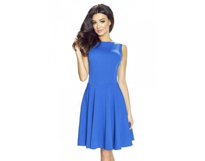 Clea Klassisches Kleid mit französischem Schnitt ,Farbe: Königsblau ...