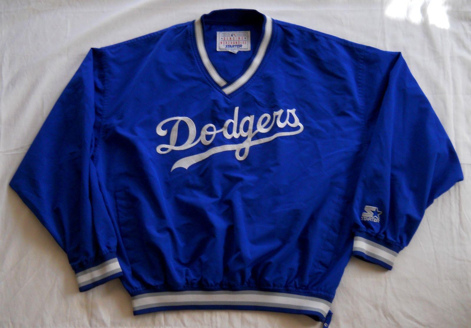 c09bf384b Los Angeles Dodgers Starter Jacket Vintage 90s Blue V Neck Pullover Large  EUC