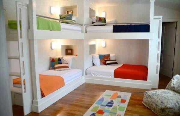 Bedroom Ideas For 4 People Vii Bunk Bed Designs Corner Bunk Beds Bunk Beds Built In