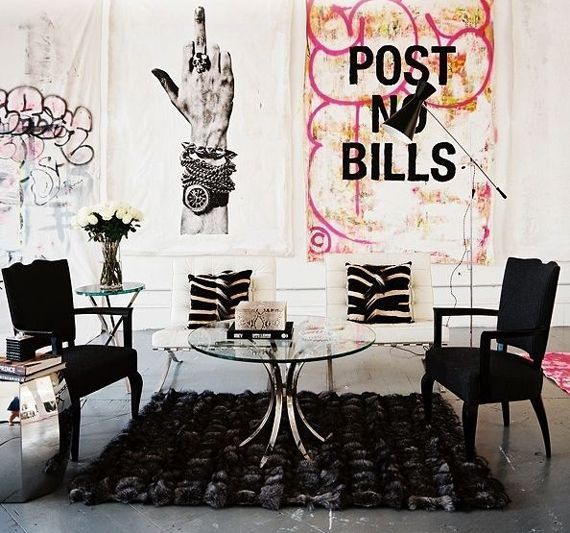Punk rock couple shows off personality in home decor - Victoria ...
