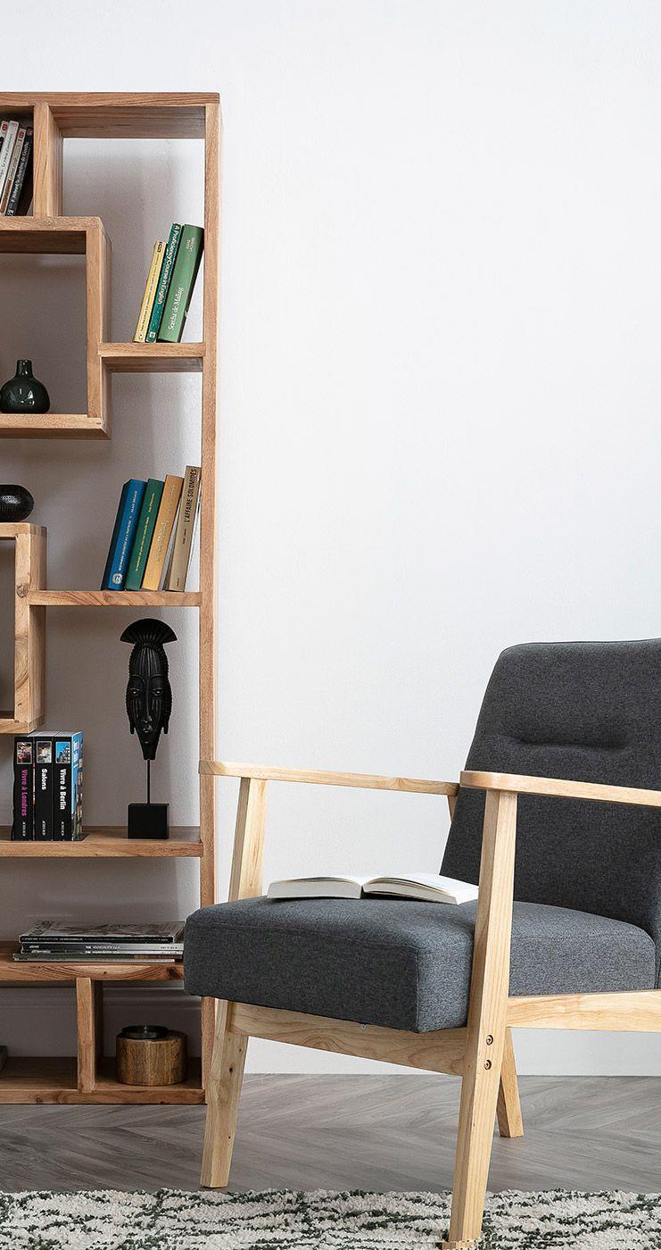 Fauteuil Scandinave Gris Et Bois Clair Abyss Miliboo Meuble Design Mobilier De Salon Fauteuil Scandinave Gris