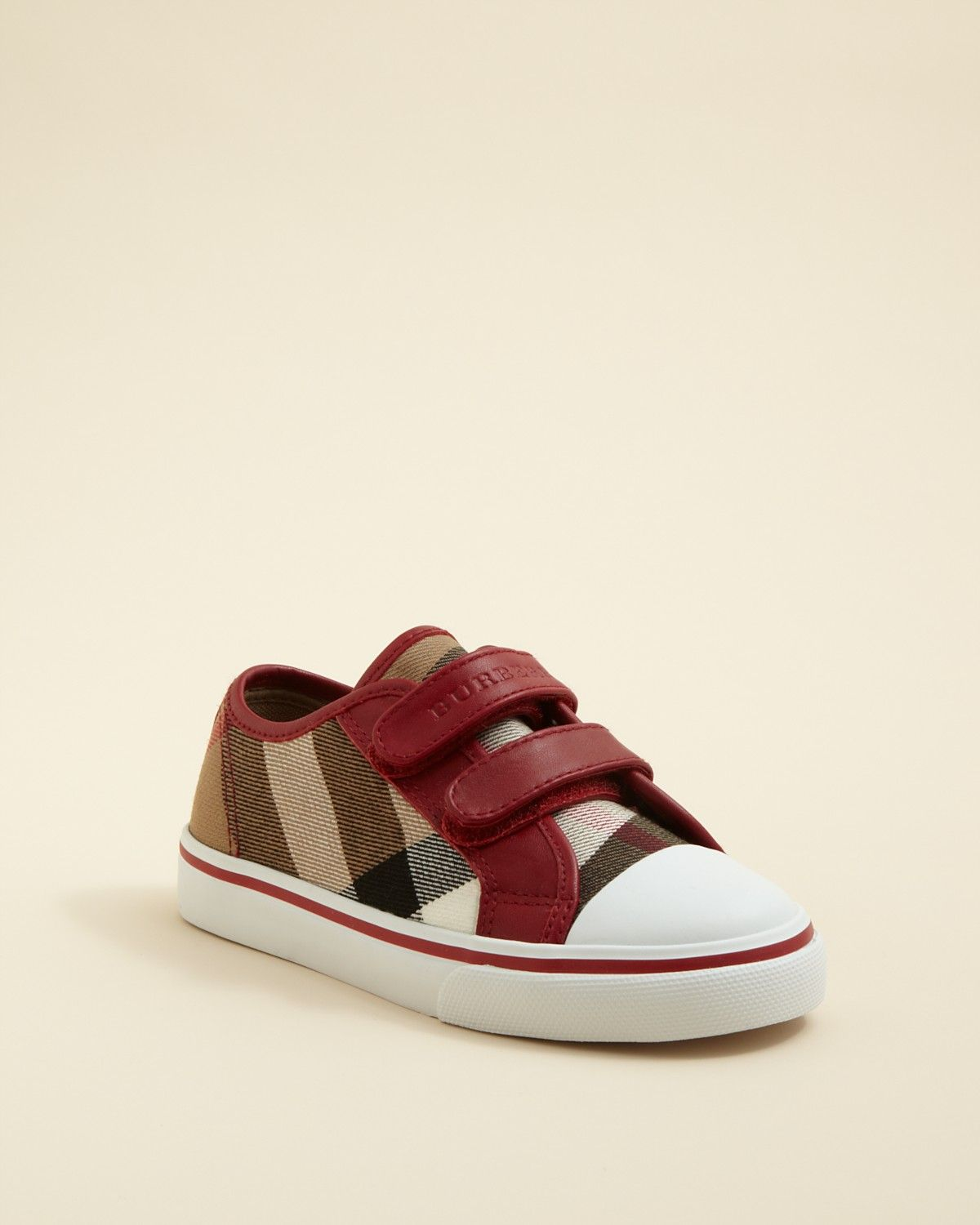 Burberry Boys' Pete Check Low Top Velcro Sneakers - Toddler, Little Kid |  Bloomingdale's