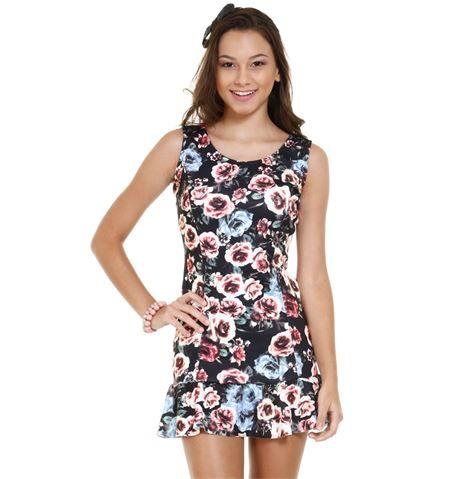 Vestido juvenil estampa floral