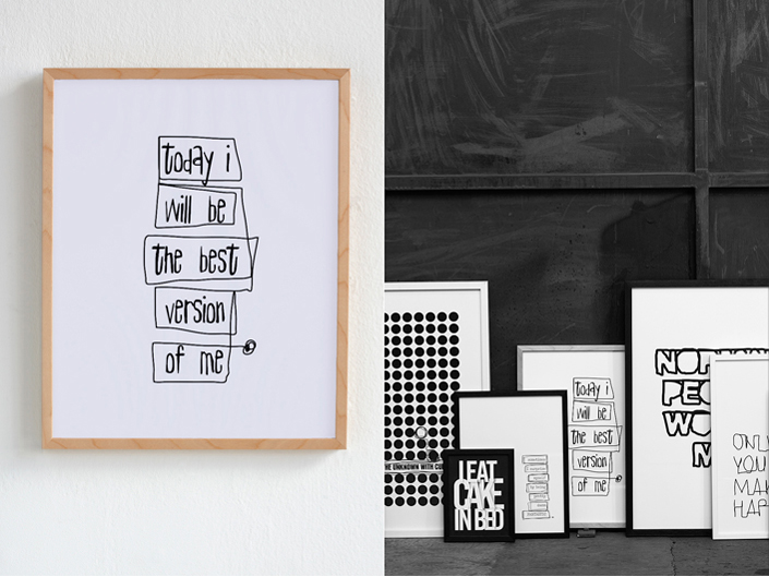Therese Sennerholt Home : Typographic artwork by therese sennerholt home ideas