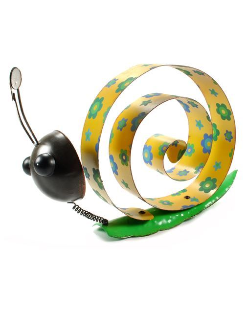 Metal Snail with Yellow Back