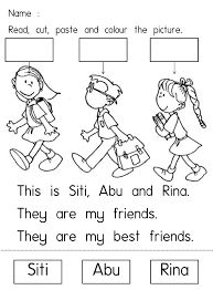 Image Result For Lembaran Kerja Prasekolah Tema Keluarga Saya My Best Friend Best Friends I Am Awesome