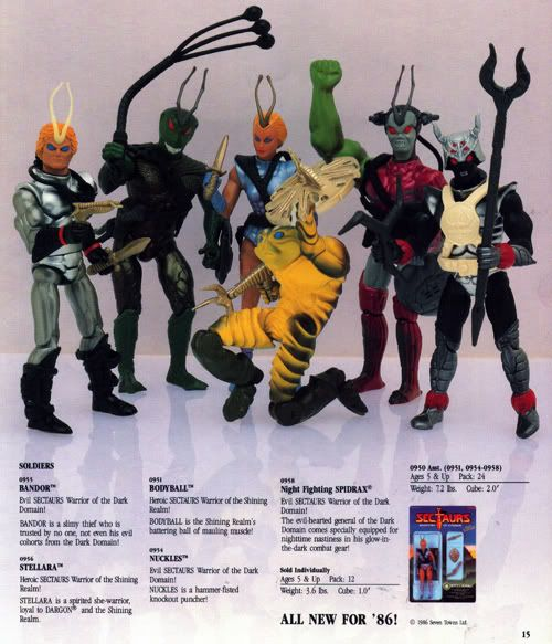 A Coleco Dealer Catalog Advertising A 1986 Lineup Of Sectaurs Toys That Were Never Produced Including Stellara Retro Toys Action Figures Cool Toys