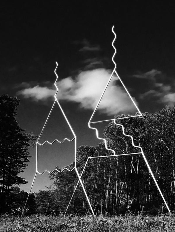 Edward tufte sculpture of Feynman's diagrams