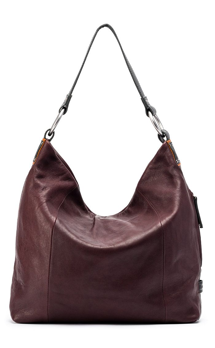 ff65ee1bc52bef Sadie Glazed Italian Leather Hobo Bag: Raisin | Handbags | Bags ...