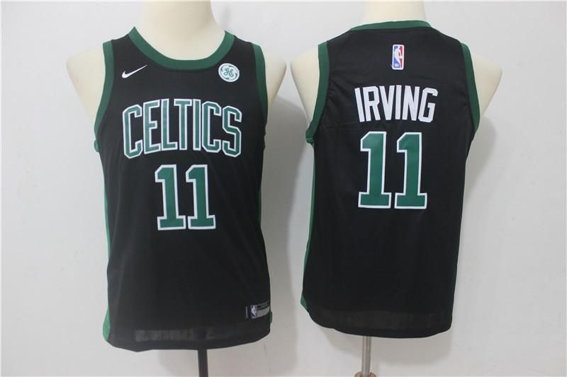 best sneakers 84e8c 2aa4f Youth kids Celtics #11 Kyrie Irving Basketball stitched ...