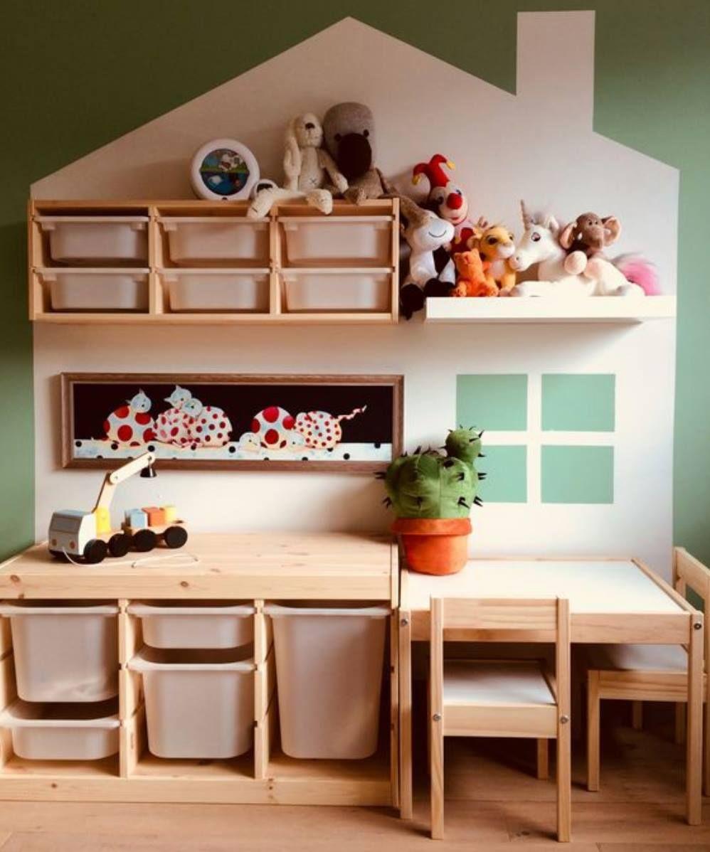 Chambre enfant rangement Ikea en 2019 | Chambre enfant, Rangement salle de jeux et Salle de jeux