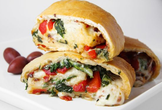 VEGGIE CHEESE STROMBOLI #insurancequotes